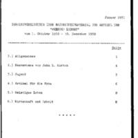 Inhaltsverzeichnis über Nachrichtenmaterial  01.10.1950 - 30.12.1950