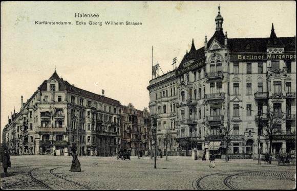 Ecke Kurfürstendamm/Georg-Wilhelm-Straße, 1911